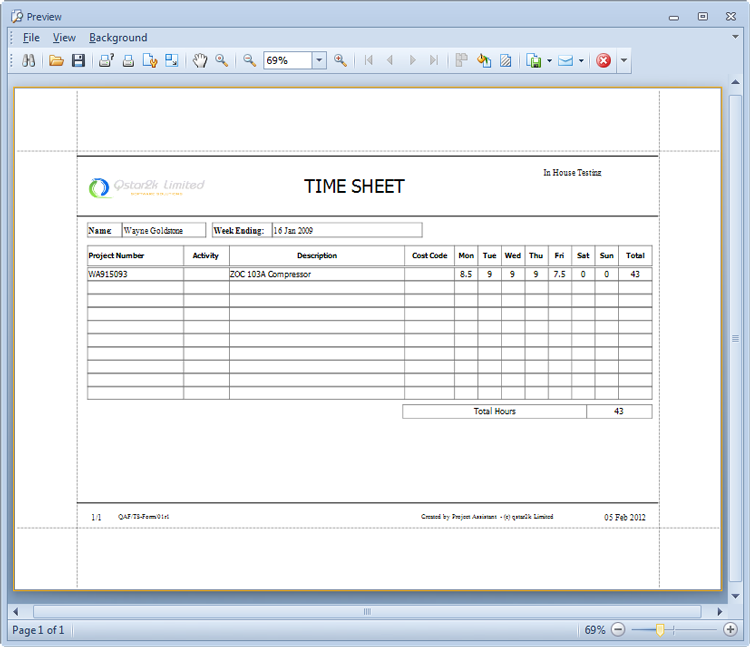 Timesheet New Calendar Template Site